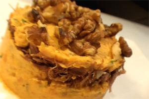Kitchen express : Hachis de canard à la patate douce et aux noix