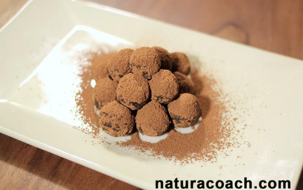 recette express de truffes chocolat coco sans beurre et. Black Bedroom Furniture Sets. Home Design Ideas