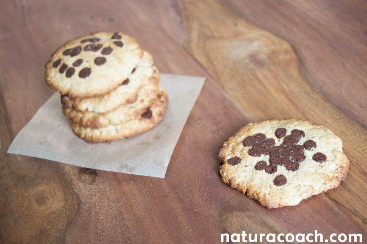 Recette de cookies sans farine aux pépites de chocolat (sans gluten - sans beurre)